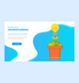 investment or donation platform dollar web vector image vector image