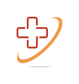 Logo Red Medical icon design vector image vector image