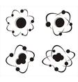 Molecule icons vector image vector image