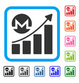monero growing chart framed icon vector image vector image