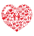 Mosaic heart card for Valentines Day vector image vector image