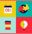 office work - colorful flat design style elements vector image