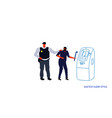 police taking security protection policeman vector image vector image