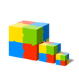 Puzzle cube vector image vector image