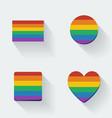 Rainbow Flags vector image vector image