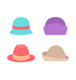 set female hats summer spring autumn mode icons vector image vector image