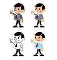 set figures of men vector image vector image
