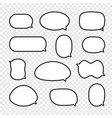 set of rounded comic speech bubbles vector image vector image
