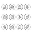 set round line icons of sewerage vector image vector image