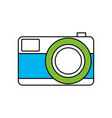 silhouette color section of photo camera in vector image vector image