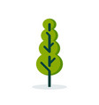 simple tree icon in flat style vector image vector image