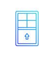 single-hung windows linear icon vector image