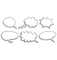 speech bubbles icon set hand drawn on white vector image vector image