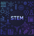 stem colored concept frame in thin line vector image vector image