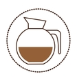 sticker circular shape glass jar of coffee with vector image vector image