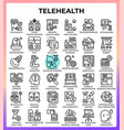 telehealth concept icons vector image vector image