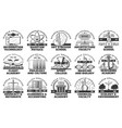 university college and academy icons vector image