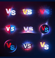 versus emblems vs mma competition battle vector image