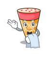 Waiter ice cream tone mascot cartoon