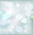 winter background with bokeh lights vector image vector image
