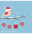 Winter card with cute bird vector image vector image