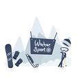 Winter sport poster design vector image vector image
