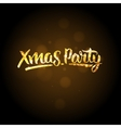 Xmas party template Christmas golden background vector image vector image