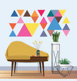 vintage living room idea vector image