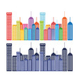 cityscape buildings set silhouette icon vector image
