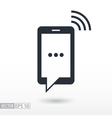 icon sms vector image