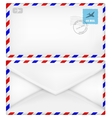 Airmail envelope with stamps vector image