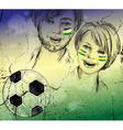 Sketch of Brazilian Soccer Fans vector image