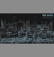 3d big data in modern city abstract social vector image