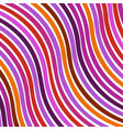 abstract color wavy background line pattern vector image vector image