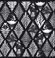 abstract hawaiian black and white seamless vector image