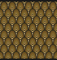 art deco seamless pattern gold on black vector image vector image