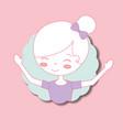 beautiful ballerina ballet portrait character vector image