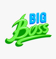 big boss banner decorative typography for baby vector image