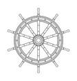 black white boat handwheel ship wheel helm vector image