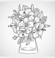 bouquet flowers vector image vector image
