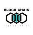 business block chain logo vector image
