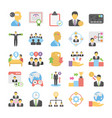 business flat colored icons 9 vector image