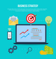 business strategy flat style design concept vector image