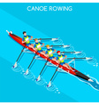 Canoe Quadruple Sculls 2016 Summer Games 3D vector image vector image