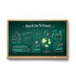 chalk drawn set education items vector image