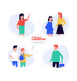 children - flat design style characters set vector image