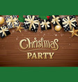 christmas party poster background design template vector image vector image