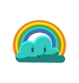 Cloud With Rainbow Arch vector image vector image