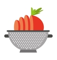 cooking vegetarian food icon vector image vector image