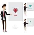 Creative man makes a presentation vector image vector image